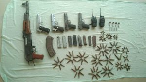 Arms and ammunition recovered