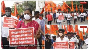 Coimbatore – Protests against the demolition of seven temples