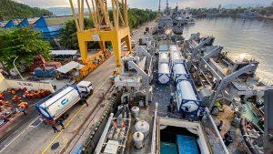 आईएनएस ऐरावत कोविड राहत आपूर्ति के साथ जकार्ता पहुंचा